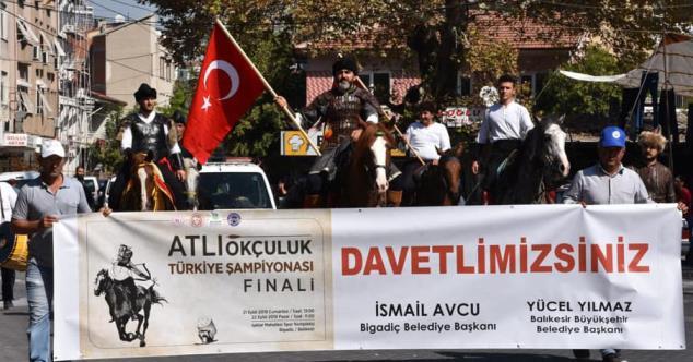 BİGADİÇ'TE ATLI OKÇULUK TÜRKİYE ŞAMPİYONASI YAPILIYOR